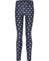 The Upside Leggings Cats mit Stretch-Anteil - Blau
