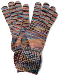 Missoni Handschuhe aus Kaschmir und Wolle - Mehrfarbig