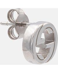 Gucci - Interlocking G Sterling Silver Earrings - Lyst