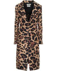 Bottega Veneta Leopard-jacquard Single-breasted Coat - Multicolor