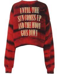 Amiri Printed Cotton Sweater - Red