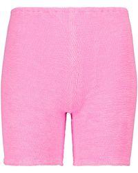 Hunza G Exklusiv bei Mytheresa – Shorts aus Strick - Pink