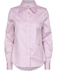 Victoria Beckham - Striped Cotton-blend Shirt - Lyst