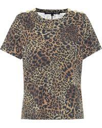 Veronica Beard Camiseta Carla de algodón estampada - Marrón