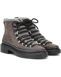 Rag & Bone Compass Suede Ankle Boots - Gray