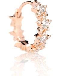 Maria Tash Orecchino singolo Diamond Star Eternity in oro rosa 18kt con diamanti