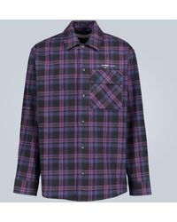 Off-White c/o Virgil Abloh Flannel Checked Shirt - Blue