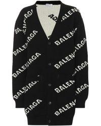 Balenciaga All Over Cardigan - Black