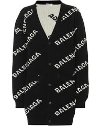 Balenciaga All Over Cardigan - Black