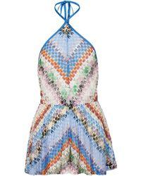 Missoni Jumpsuit corta in maglia - Blu