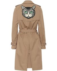 Gucci Cotton-blend Trench Coat - Natural