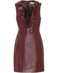 Baum und Pferdgarten Exclusive To Mytheresa – Abee Faux-leather Minidress - Red