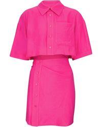 Jacquemus Exklusiv bei Mytheresa – Minikleid La Chemise Arles - Pink