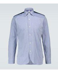 Junya Watanabe Striped Patchwork Shirt - Blue