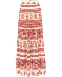 Johanna Ortiz Western Orientalism Silk Maxi Skirt - Red