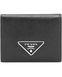 Prada Saffiano-leather Wallet - Black