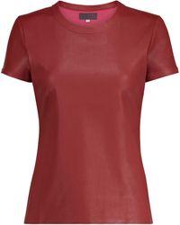 Stouls T-Shirt S.05 aus Leder - Rot