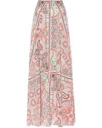 Etro Printed Silk Skirt - Pink