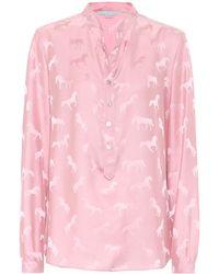 Stella McCartney Bluse mit Seidenanteil - Pink