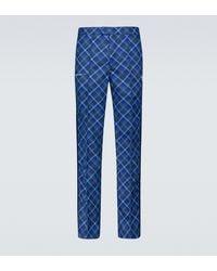 adidas X Wales Bonner Tartan Trousers - Blue