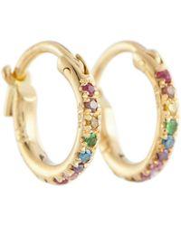 Ileana Makri Orecchini a cerchio in oro 18kt con diamanti - Metallizzato