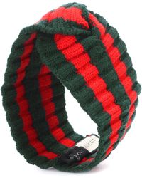 Gucci Striped Wool-blend Headband - Green