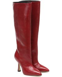 Stuart Weitzman Botas altas Parton - Rojo