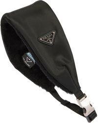 Prada Haarband aus Re-Nylon - Schwarz