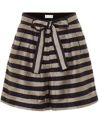 Rebecca Vallance Nautique Striped Shorts - Multicolour