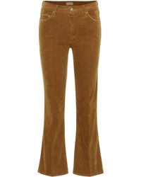 Mother Kordhose The Outsider Crop - Braun