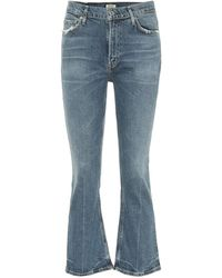 Citizens of Humanity - Jeans flared Demy a vita alta cropped - Lyst