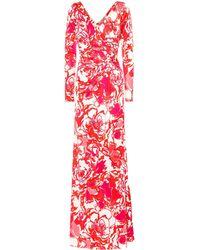 Roberto Cavalli Printed Stretch Jersey Dress - Red