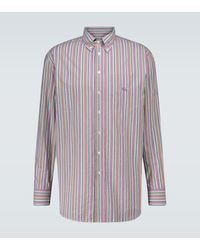 Etro - Striped Cotton Shirt - Lyst