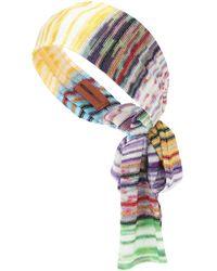 Missoni Fascia per capelli in maglia - Multicolore