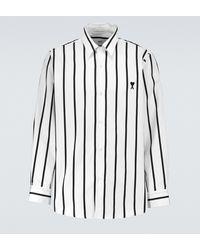 AMI Camicia in cotone a righe Ami de Coeur - Multicolore