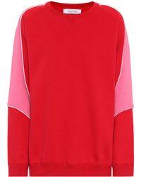Valentino Cotton Sweatshirt - Red