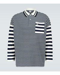 Loewe Striped Long-sleeved Polo Shirt - Blue