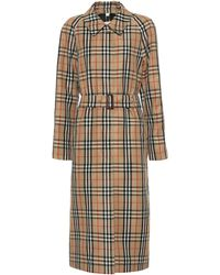 Burberry Vintage Check Trench Coat - Natural