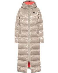 Nike Quilted Down Coat - Natural