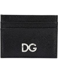 Dolce & Gabbana Tarjetero De Piel Dauphine - Negro