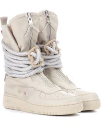 Nike Sf Air Force 1 Leather Boots - Natural