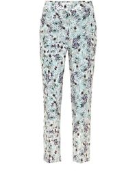 Erdem Pantalon Gianna en soie à fleurs - Multicolore