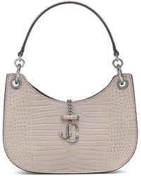 Jimmy Choo Varenne Hobo Small Leather Shoulder Bag - Natural