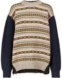 Junya Watanabe Jersey de lana en intarsia - Multicolor