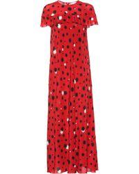 RED Valentino Maxikleid aus Seide - Rot