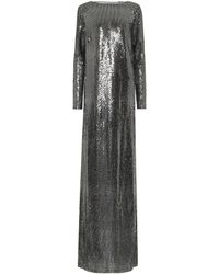 Gucci Robe longue métallisée