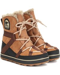 Sorel Explorer Suede Boots - Brown