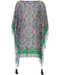 Tory Burch Printed Cotton And Silk Kaftan - Multicolor