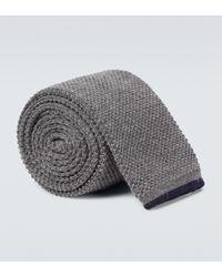 Brunello Cucinelli Krawatte aus Wolle - Grau