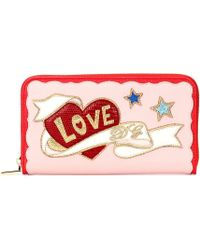 Dolce & Gabbana - Embroidered Leather Wallet - Lyst